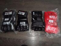 3 pairs of Blitz mma gloves new