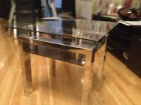 Set of 3 glass coffee tables