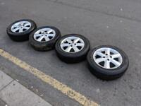 NISSAN ALLOY WHEELS & TYRES , 15 INCH ALLOY WHERLS FOR NISSAN NOTE NISSAN MICRA