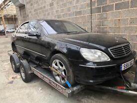 Breaking Mercedes S55 AMG w220 2001