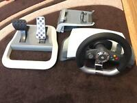 XBOX 360 Official Microsoft Steering wheel with force feedback