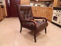 Vintage Cintique Buttoned Leather Chair