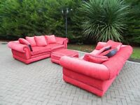 Extra Large -Red 3+3+ Pouffe