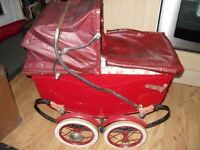 Rare 1950s, or earlier.., children's play pram