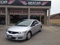 2010 Honda Civic DX-G C0UPE 5 SPEED A/C CRUISE CONTROL ONLY 124K