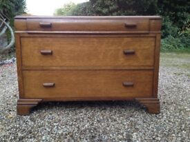 Vintage three drawer chest
