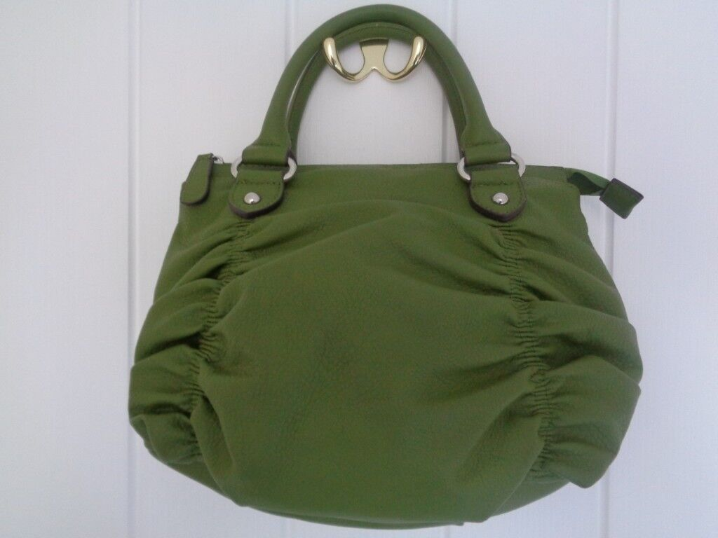 Two M S Per Una Handbags One Green With Ruched Detailing Khaki Cord In Bles Scottish Borders Gumtree