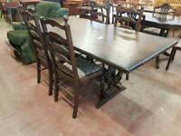 Oak table with 4 dining chairs