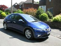 1 0wner Very Low Mileage Honda Civic 1-8 I VTEC ES 5 dr with a Panoramic Glass Roof