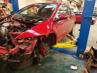 Breaking Honda Civic Type R Fn2 GT K20z4 Milano Red (56-11)