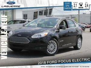 2018 Ford Focus Electric SYNC 3**CUIR*GPS*CAM*A/C 2 ZONES*MY FOR