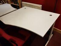 x2 White PC Desks- Good quality - Unwanted