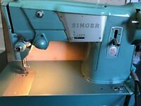 VINTAGE SINGER SEWING MACHINE 1950's WORKING