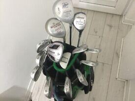 14John Letters Golf Clubs + Deluxe Hillbilly Golf Bag