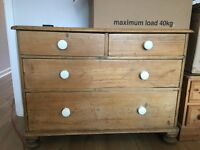 Old pine chest of drawers - free for collection now