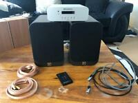 Brunoco Diva amplifier and Q Acoustics 3020 speakers (also included Gale 3010s speakers)