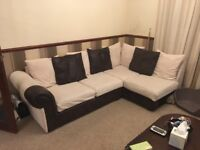 Corner sofa and two seater sofa