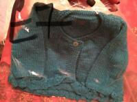Hand knitted baby/children's cardigan and jumpers