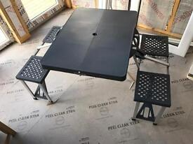 Fold up camping table & chairs