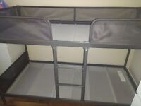 Dark grey bunk beds
