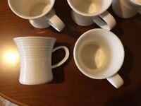 13 Belleek Living Solace Cups & Saucers. Never Used. With Packaging.