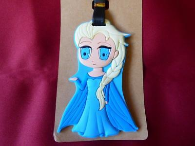 New Disney Frozen Elsa Luggage Tag (Baggage / Suitcase Label) Name Bag Tag