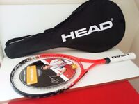 10 x NEW HEAD RADICAL 27 TITANIUM ANDY MURRAY TENNIS RACKET WITH CASE 4 1/8 No.231602 - £17.50 EACH.