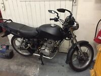 125cc Motorcycle/Motorbike Matte Black Custom Exhaust