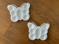 2 x butterfly paint trays