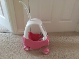 Kids pink toy car