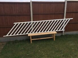 Stair Banister 2 years old, Great condition, white gloss
