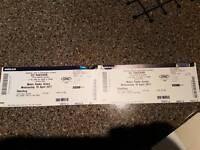 Ed Sheeren Tickets X2 Standing