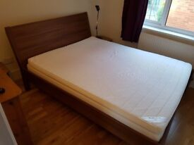 European king-size (160 x 200cm) bed and memory foam mattress for sale