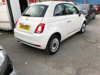 2017 FIAT 500 LOUNGE S/S WHITE 1.2 PETROL £20 TAX HPI CLEAR