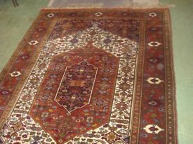 Vintage Hand Made Persian Rug with Silk Fundation 190cm x 128cm