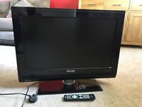 Philips 26 Inch Flat Screen TV 768p HD Ready Television + Remote + Stand