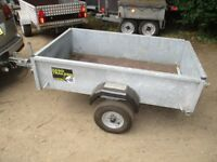 AS NEW GALVANISED 5-4 X 3-3 GOODS TRAILER WITH DROPTAIL.....