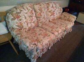 Cream floral sofa