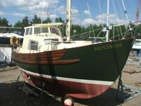 Boat Fisher Freeward 25 motor sailer