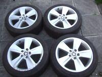 "17"" Genuine Seat Leon Alloy Wheels 5x112 Volkswagen Golf MK5, Caddy, Touran, Audi*POSTAGE AVAILABLE*"