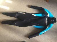 Ladies wetsuit 3 mm full lenght