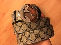 Gucci belt chrome buckle and Gg belt for sale