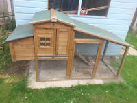 chicken shack/coop with small rabbit hutch