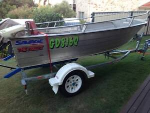 4m Savage Tinnie + 2014 Gal Trailer + 25hp Yamaha Good Condition Thornlands Redland Area Preview