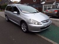 ** 7 SEATER ** 02 REG PEUGEOT 307 SW 2.0 SE ESTATE