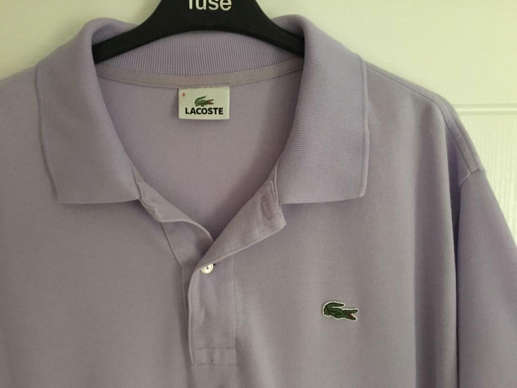 3 Lacoste Polo Shirts Size 6 Large In Cambridge