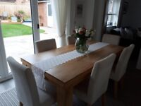 Solid mango wood dining table 180 cms x 90 cms good condition( chairs not included) £125
