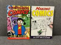 2x Rare COMIC DESIGN ILLUSTRATION GUIDE BOOKS by Scott McCloud Harper SDHC