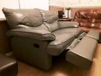 Pull out, double seatted, green sofa