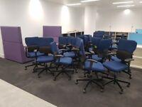 Office furniture in bulk (desks, chairs, storage, boardroom, conference, pod/bench/hot desks,)